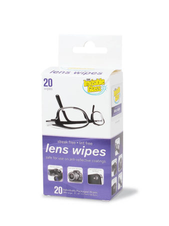 Invisible Glass Lens Wipes - 20 Pack