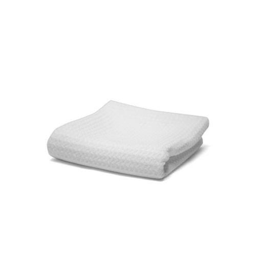 All White Waffle Weave Glass Towel